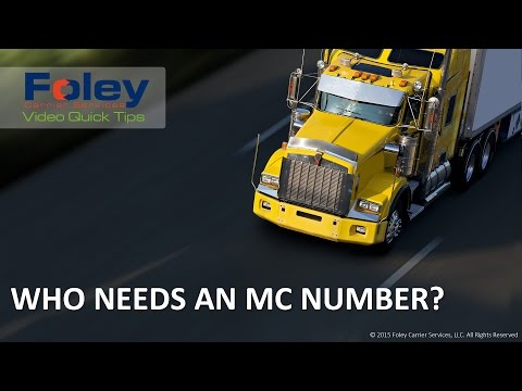 Who Needs an MC Number (Operating Authority)?