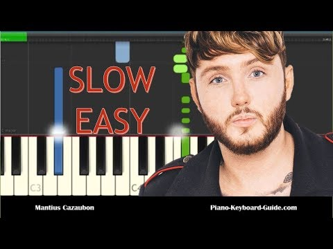 How to Play Naked by James Arthur - Slow Easy Piano Tutorial