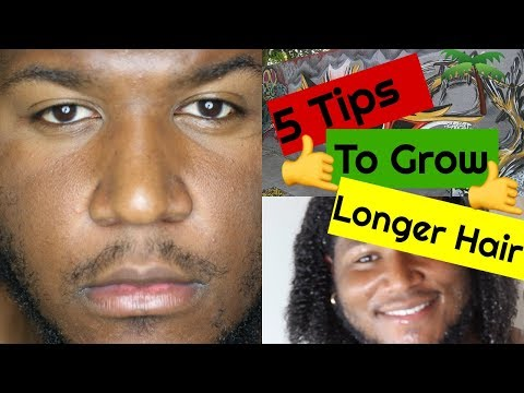 5 BEST Tips To Grow Longer Hair | Black Samoan men curly hair