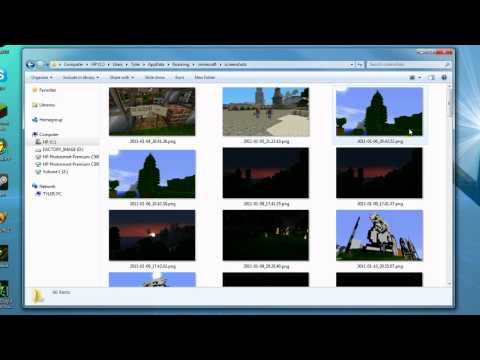 Minecraft Screenshot, Upload, Post Tutorial