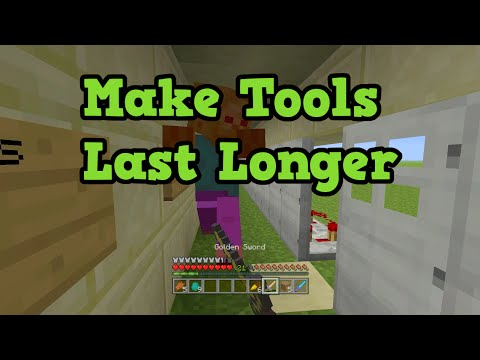 Minecraft Xbox 360 + PS3 How to Make Weapons & Tools Last Longer