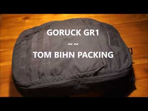 GORUCK GR1 and Tom Bihn packing accessories make great onebag Combo