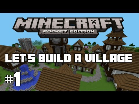 Minecraft PE : Let's Build A Village #1 - First House