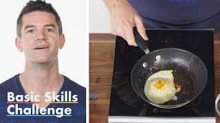 50 People Try to Make an Over Easy Egg | Epicurious