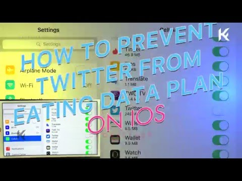 PREVENT TWITTER from EATING YOUR CELLULAR DATA PLAN IOS [tutorial]