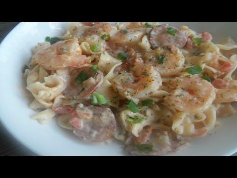 How to make Cajun Shrimp and Sausage Pasta