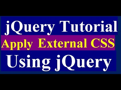 How to Load External CSS File by jQuery in Website - jQuery Tutorial