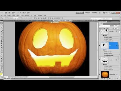 Halloween lantern carving in Photoshop