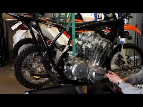 Honda CB650 engine removal, cafe racer project