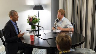 Prince Harry quizzes Barack Obama in rapid-fire exchange