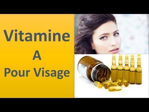 La vitamine A pour le visage