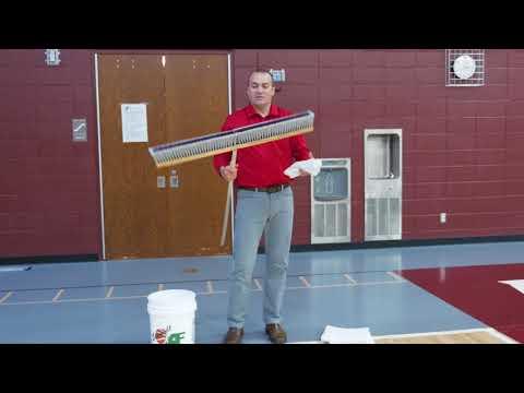 Broom And Towel vs Microfiber Gym Floor Cleaning