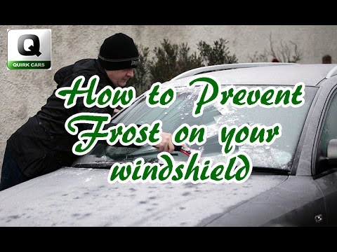 How to prevent frost on your windshield