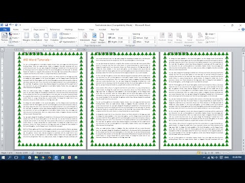 Add, Change or Remove Page Borders in MS Word