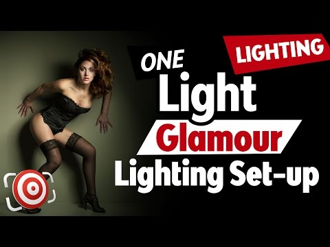 Simple One Light Glamour Lighting Set-up