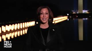 WATCH: Kamala Harris makes first speech as vice president, urges country to