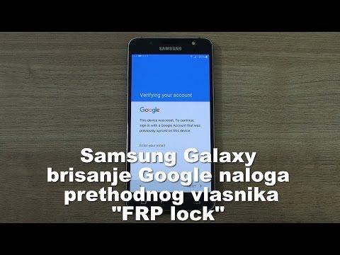 Samsung Galaxy brisanje zaboravljenog Google naloga  FRP lock
