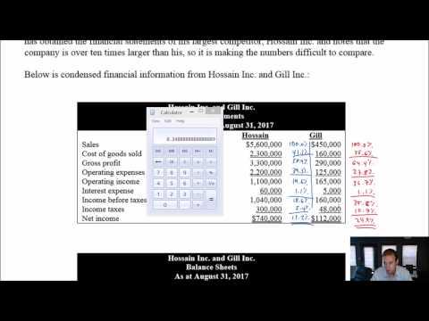 Module 12, Video 3 - Vertical Analysis - Problem 12-2A