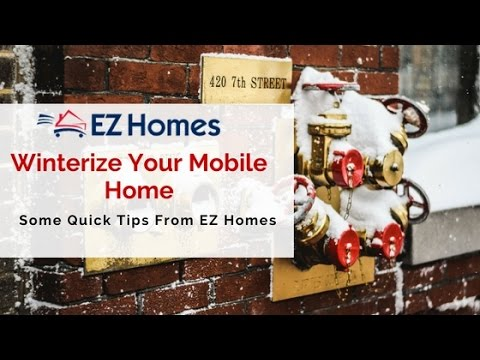 How to winterize a mobile home