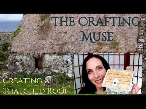 Thatched Roof for Miniature Houses in D&D and TTRPG Terrain