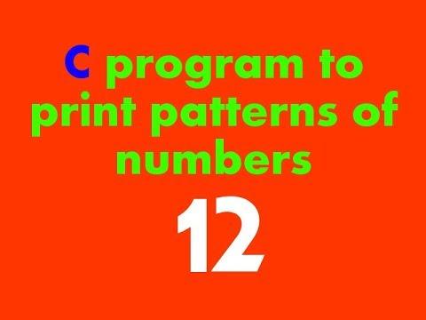C Programming Tutorial in Hindi - C program to print patterns of numbers