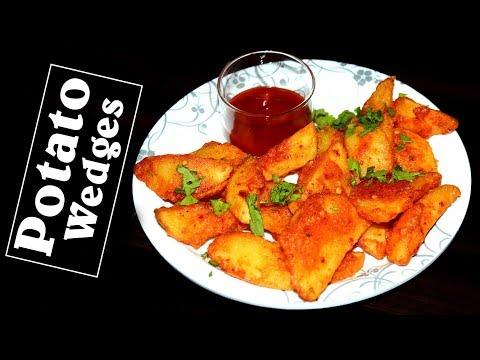 Crispy Potato wedges    how to make deep fried & baked potato wedges   Easy Tasty Snack Recipe  