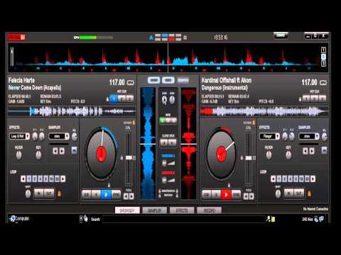 virtual dj tutorial pt7. (accapella/vocal and instrumental mixing)