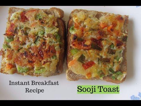 Instant Rava Toast Recipe - Semolina Toast - Sooji Toast Recipe