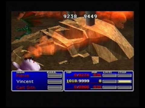 FF7 - Ruby Weapon defeated by Vincent's Chaos
