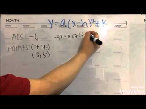 Writing quadratic functions with given aos and 2 points