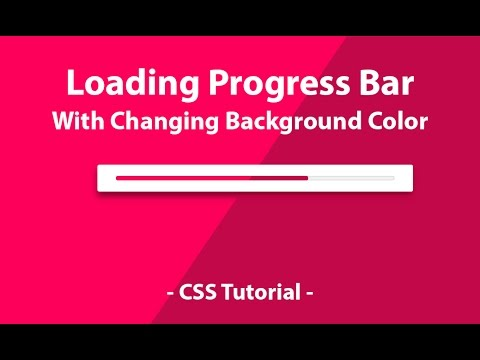 Loading Progress bar with changing Background Color - Pure CSS