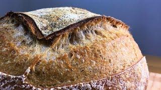 How to make Sourdough Bread_15% Whole Wheat_Wild Yeast Starter Leaven_Tartine Bread No Knead bread