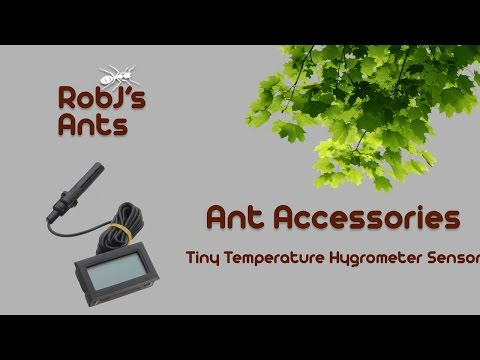 How To Get A Tiny Temperature Hygrometer Sensor With LCD Display (Ant-Keeping Tutorial/Guide)
