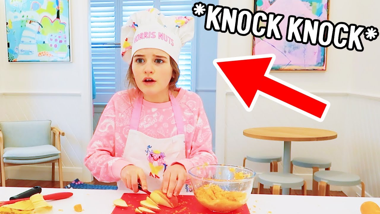 STRANGER SCARY KNOCK AT THE DOOR..... NORRIS NUTS COOKING (Guinea Pig Food)