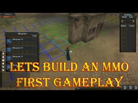 Let's Build an MMO First Game Video Fan Designed Land Management and Building Houses