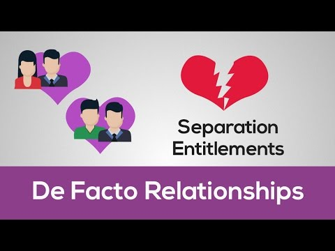 Your rights and obligations when a De Facto relationship breaks down