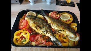 طريقة تحضير السمك بالخضار في الفرن ولا اروع من تقديم شهيوات ام انس