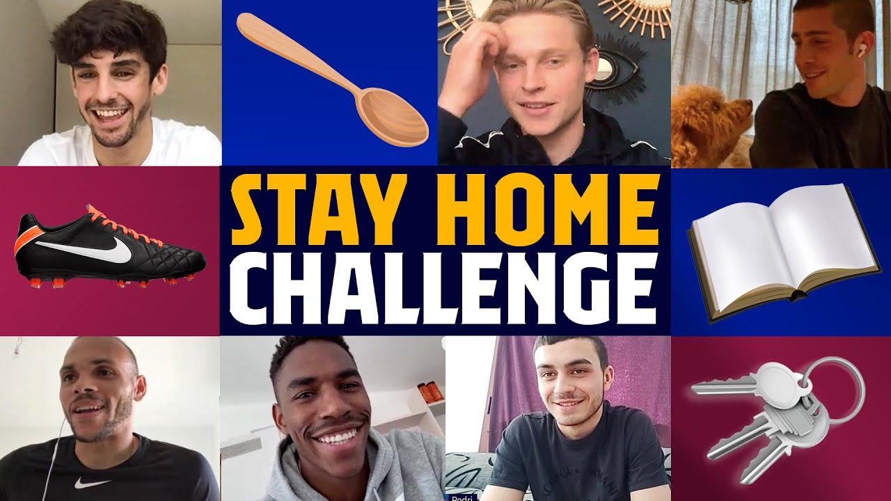 STAY AT HOME CHALLENGE with DE JONG, SERGI ROBERTO, JUNIOR & MORE