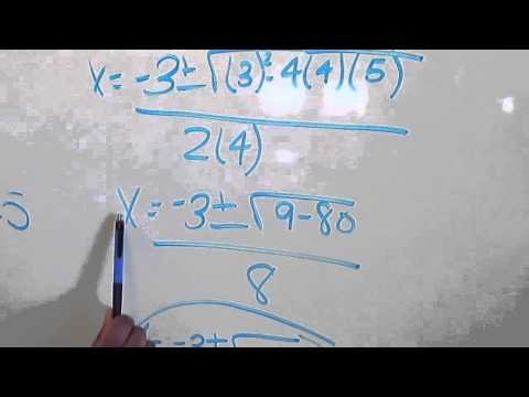 Finding the roots using the Quadratic Equation