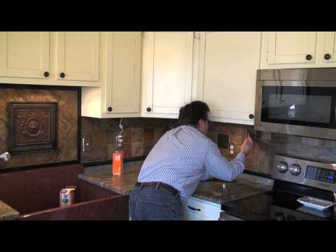 Sealing Slate Backsplash Tile with an Enhancing Sealer