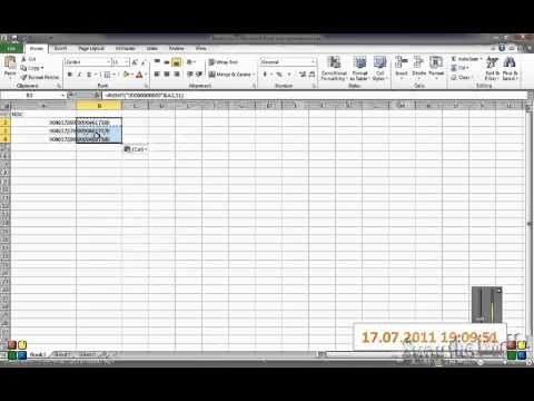 Working with Leading Zeros in Excel 2003, 2007, and 2010