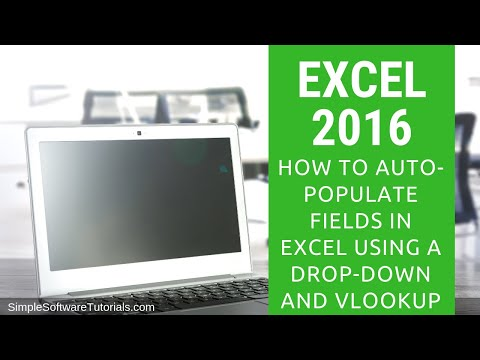 Tutorial: How to Auto-Populate Fields in Excel Using a Drop-Down and VLookup