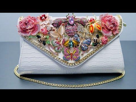 DIY | Rhinestone Brooch Butterfly Bag | BellaGemaNails