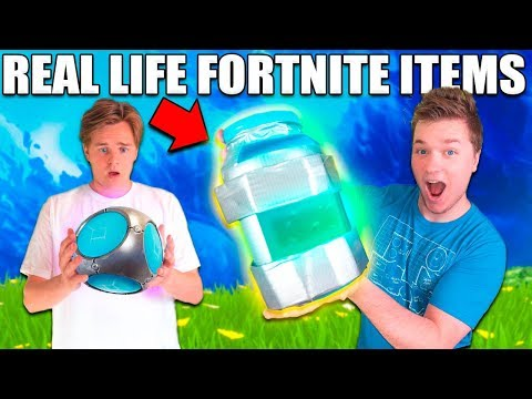 RAREST FORTNITE ITEMS IN REAL LIFE CHALLENGE! 📦⛏  Working Porta Fort, Grendade Launcher, Chug Jug!