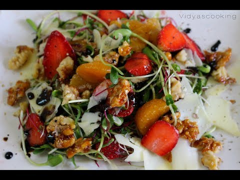Delicious Microgreens Strawberry Salad Recipe in Association with Blooming Greens