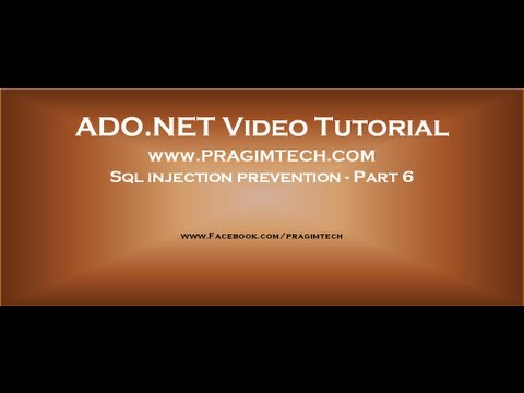 Sql injection prevention   Part 6