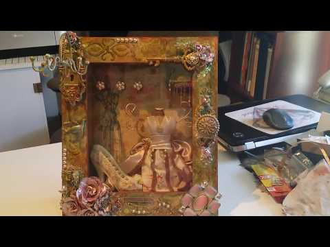 Altered Wall hanging jewelry box