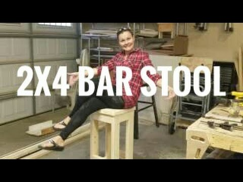 Make a 2x4 Bar Stool Farmhouse style