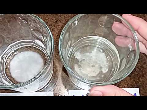 Baking Soda & Washing Soda With Vinegar Reaction Experiment