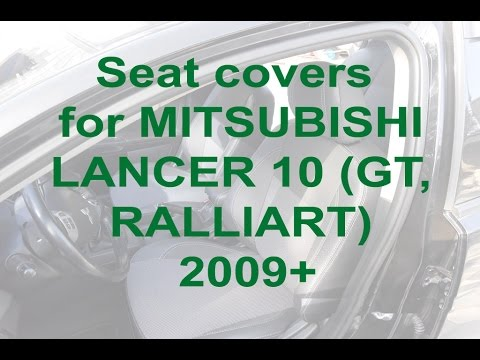 Seat covers for MITSUBISHI LANCER 10 (GT, RALLIART) 2009+ from MW-Brothers